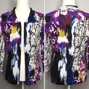 NWT | Alberto Makali | Abstract Zipper Cardigan